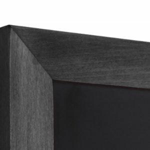 Solid Beech Chalk Board Wall (Flat Profile) - Black 560mm x 1500mm