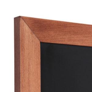 Solid Beech Chalk Board Wall (Flat Profile) - Light Brown 560mm x 1700mm
