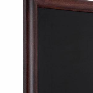 Chalk Board Wall (Round Profile) - Dark Brown 560mm x 1700mm