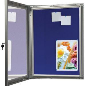 Felt Lockable Poster Case - Silver 12 X A4