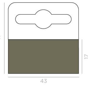 Hang Tabs 41mm x 43mm Hi Tack Glue