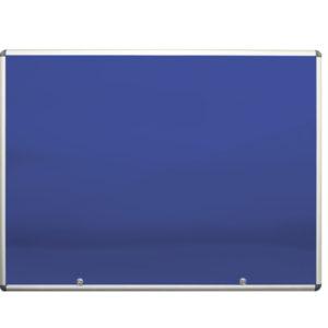Lockable Display Case Blue Felt