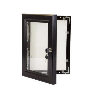 Lockable Poster Case - 1000 X 1400 Black