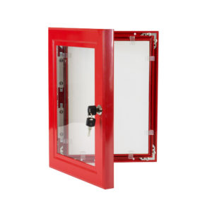 Lockable Poster Case - A1 Red