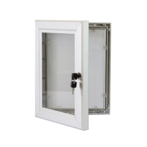Lockable Poster Case - 1000 X 1400 Silver