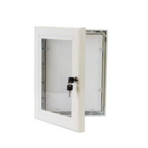 Lockable Poster Case - A1 White