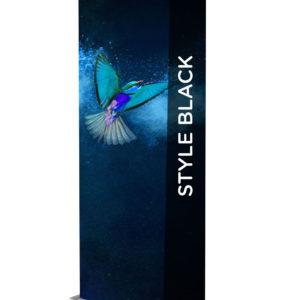 Style Roller Banner - 850mm Black/Chrome