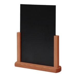 Wooden Chalk Board Menu Stand - Light Brown A5