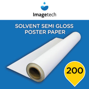 Imagetech Solvent Semi Gloss Poster Paper 200 - 1370mm x 50m