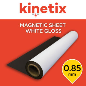 Kinetix Magnetic Sheet White Gloss 0.85mm - 1200mm x 10m