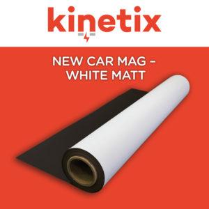 Kinetix New Car Magnet White Matt - 620mm x 30m